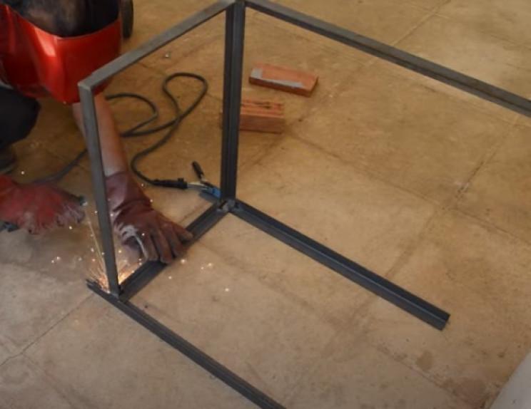 diy grill main body frame