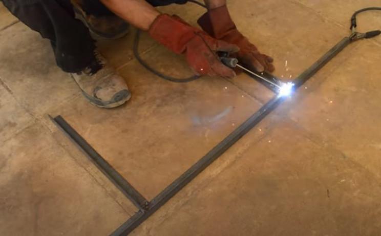 diy flat top gril weld
