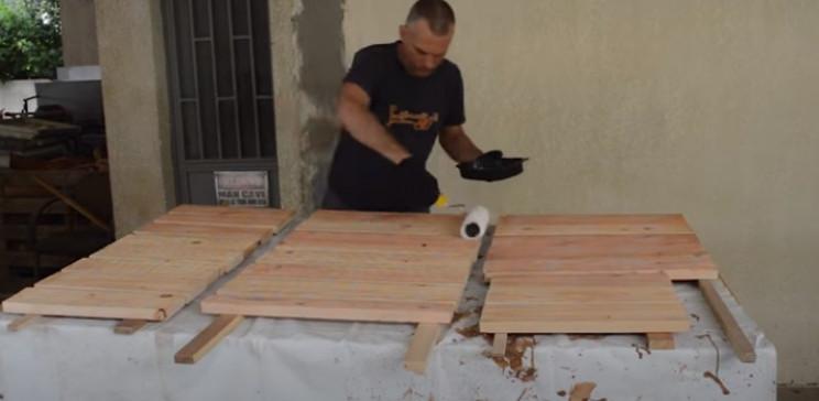 diy grill varnish wood