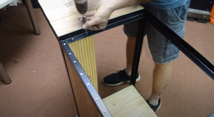 diy grill cart panels