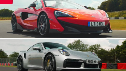 Supercar Drag Race! A Porsche 911 Turbo S Goes Up Against a McLaren 600LT