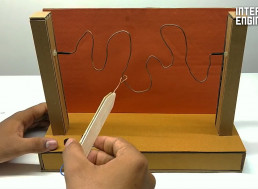 How to Make Buzz Wire Game From Little More Than Cardboard