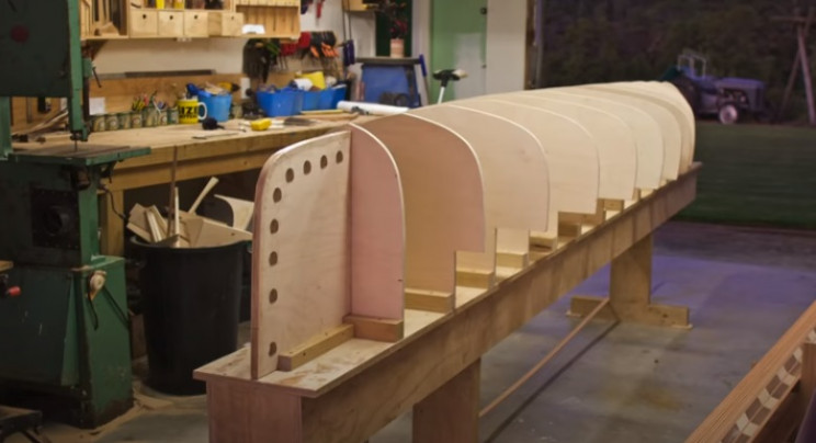 diy cedar canoe bulkheads