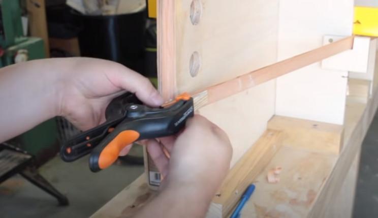 diy cedar canoe hull strips glue