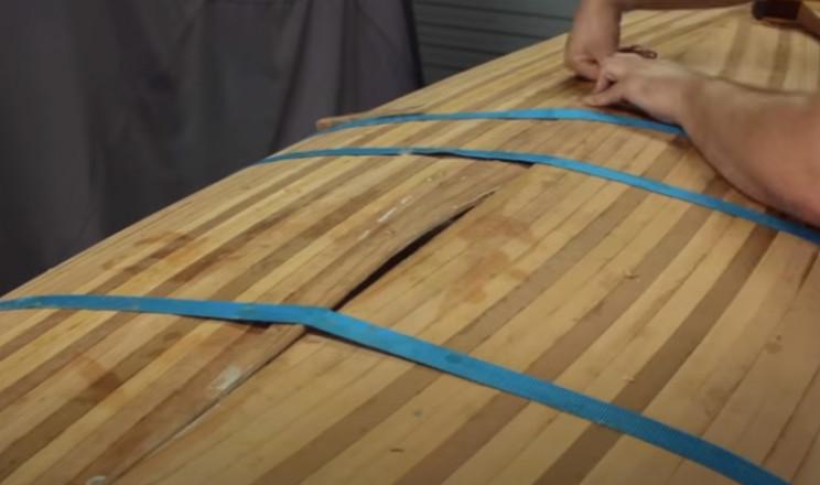 diy cedar canoe centre teardrop piece