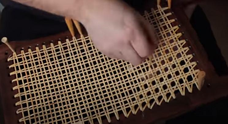 diy cedar canoe weave seat