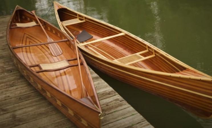 diy cedar canoe complete