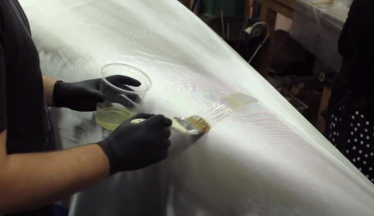 diy cedar canoe fiberglass cover
