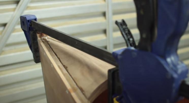 diy cedar canoe glue decks