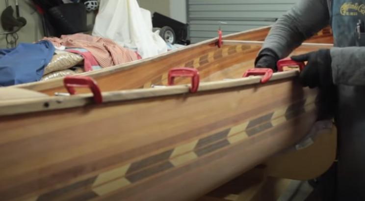 diy cedar canoe outer trim