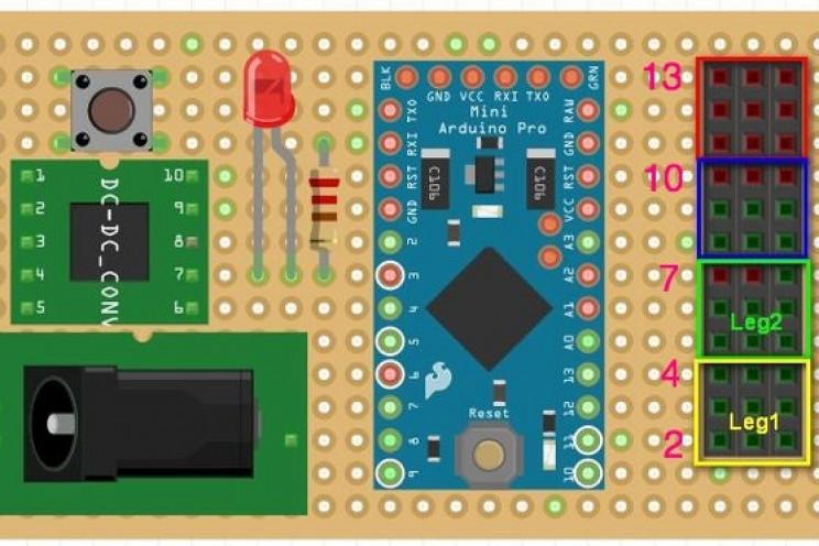 arduino robot spider elecs circuit board
