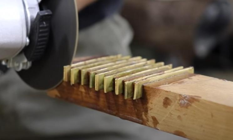 diy mallet cut strips