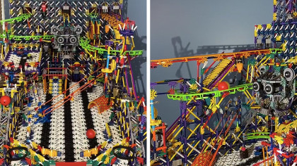Guy Builds K'Nex Pinball Machine With Automatic Scoring in 400 Hours
