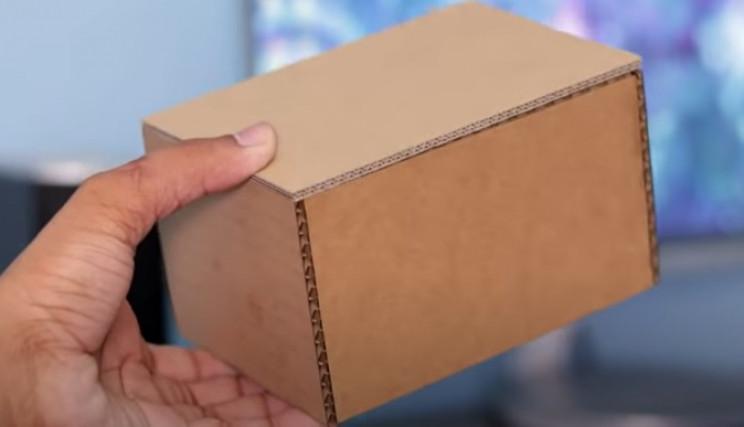 coin bank cardboard box