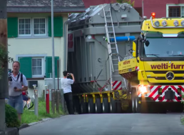 A 190-Ton Transformer Is Transported across Germany to Switzerland in Just 16 Days