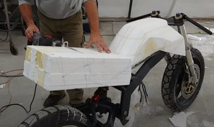 diy streetfighter ev bike saddle form