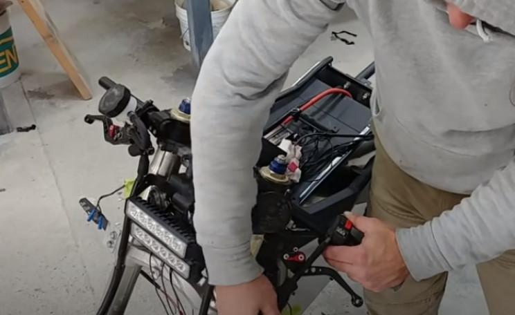 diy streetfighter ev bike handlebars