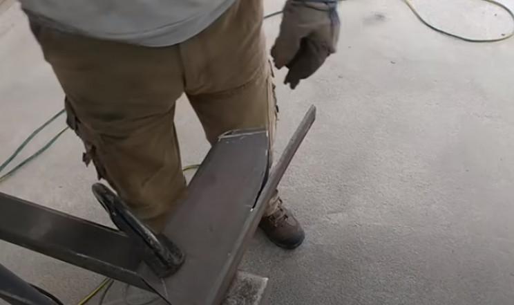 diy streetfighter bike steel pieces