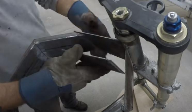 diy ev bike weld to frame