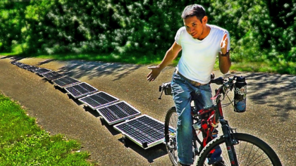 Engineer Builds an Infinitely Powered Solar E-Bike (With a Catch)