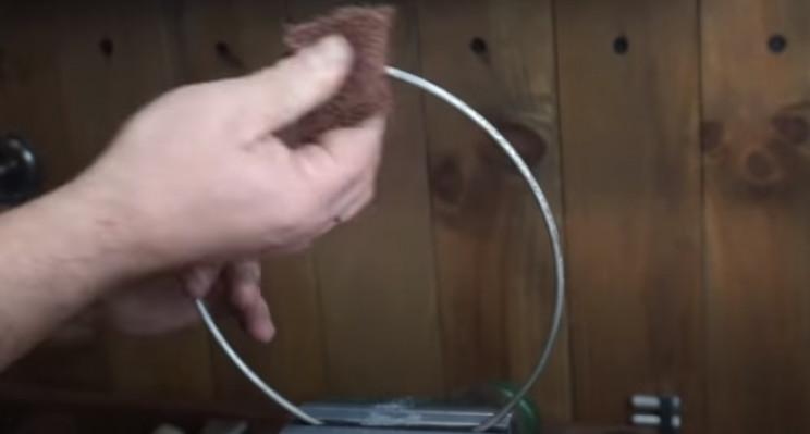 diy pressure gauge restore metal rim