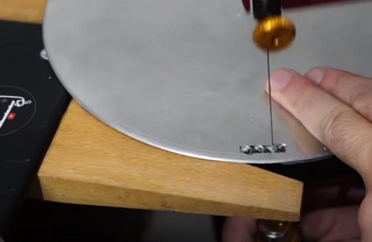diy pressure gauge restore new plate holes