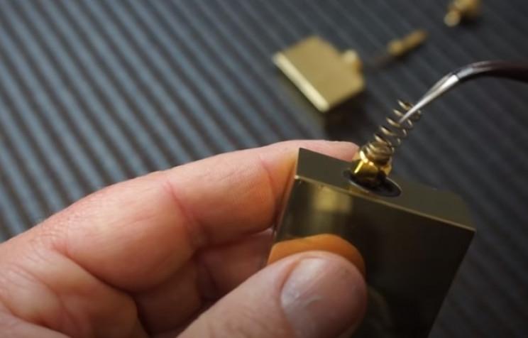 diy pressure gauge restore internal brass