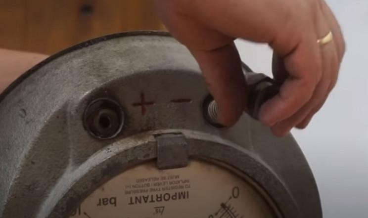 diy pressure gauge restore front dials