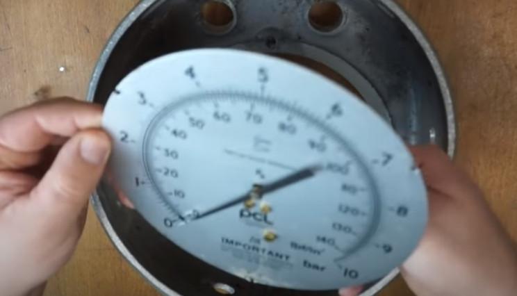 diy pressure gauge restore face plate