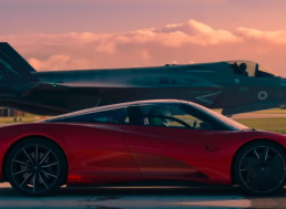 Top Gear Races a McLaren Speedtail Against an F-35 Fighter Jet