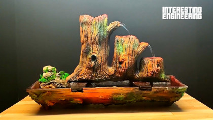 How to Make Your Own Tree-Themed Desk Waterfall Feature