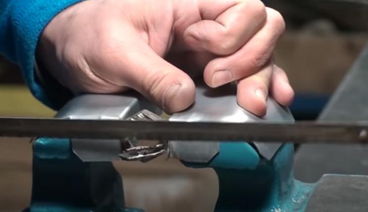 diy nut ring cut off material