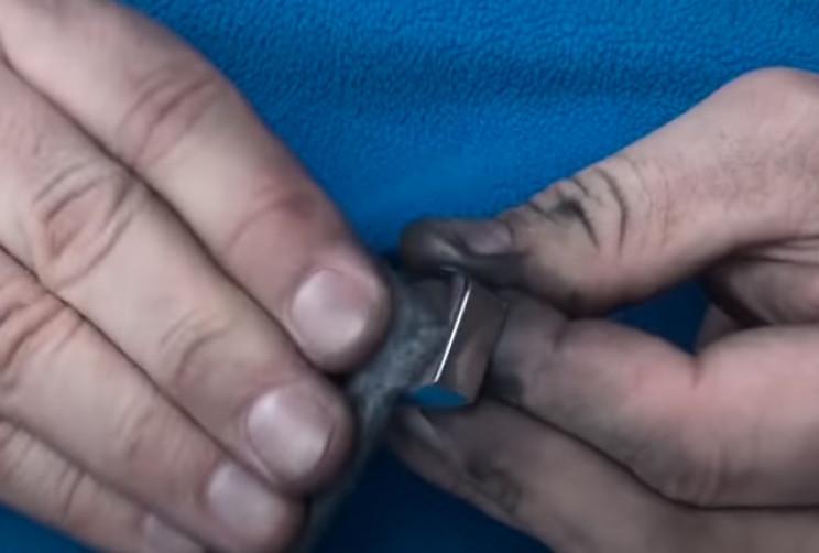 diy ring nut shiny