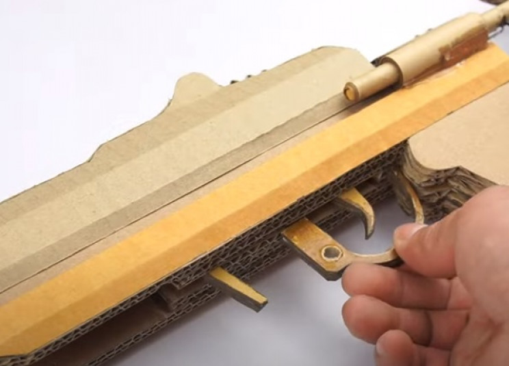 diy cardboard gun trigger guard