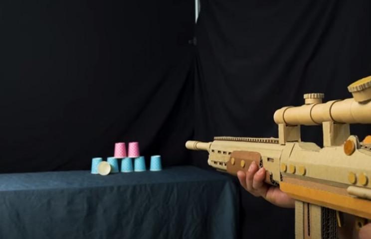 diy cardboard gun complete