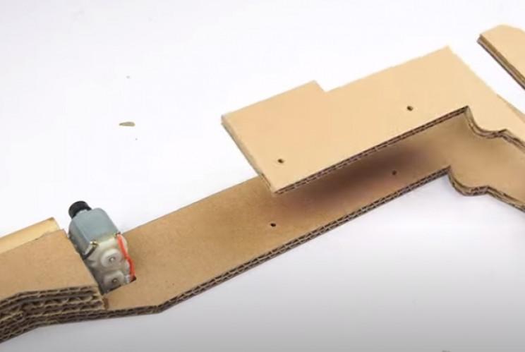diy cardboard gun dc motors