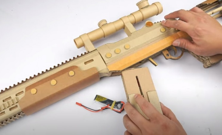 diy cardboard gun decorative features