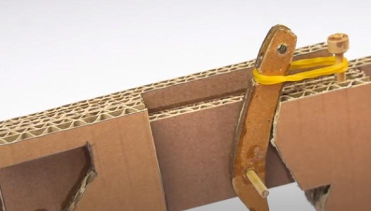 diy cardboard gun rubber band trigger