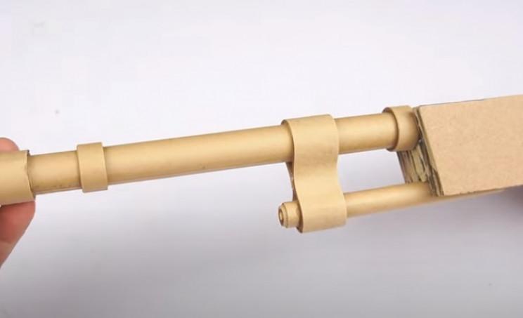 diy cardboard gun barrel end