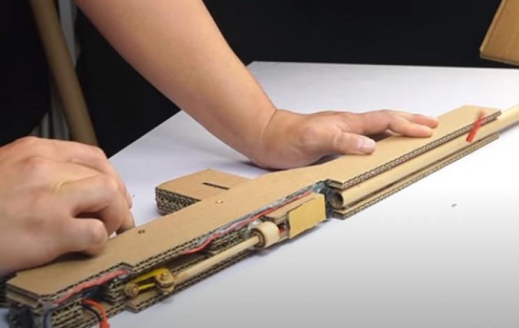diy cardboard gun test firing mechanism