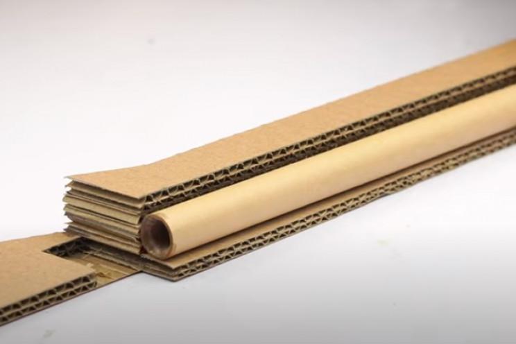 diy cardboard gun glue barrel