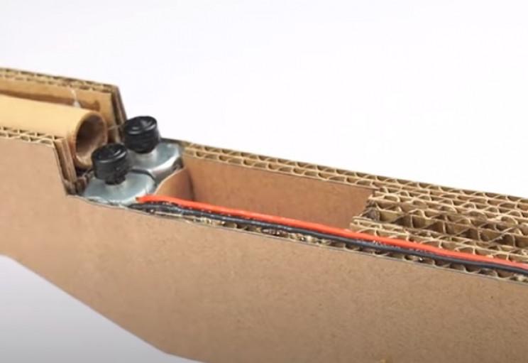 diy cardboard gun other half