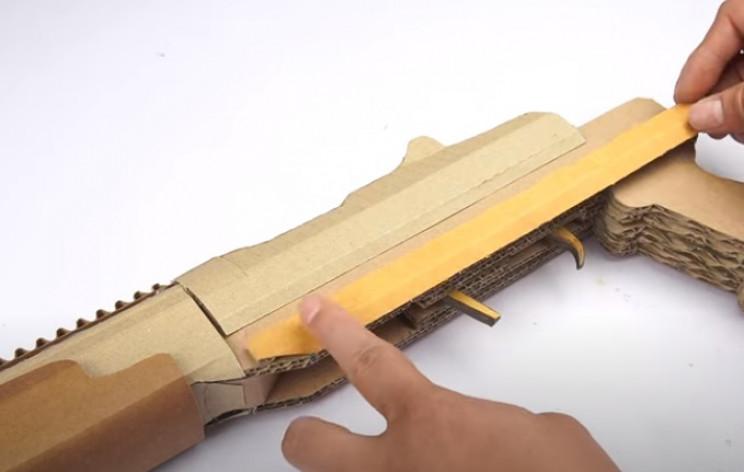 diy cardboard gun side rails