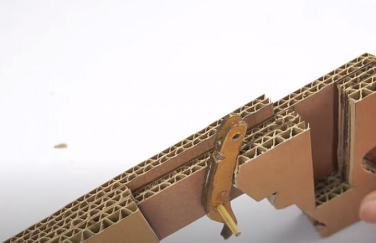 diy cardboard gun mount trigger