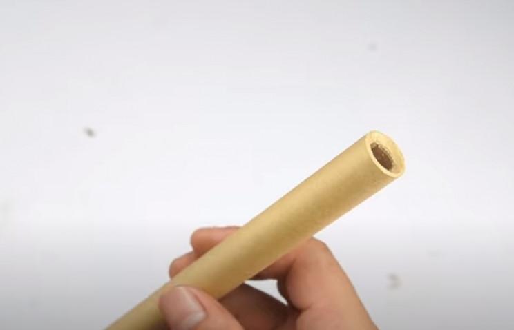 diy cardboard gun barrel bevel