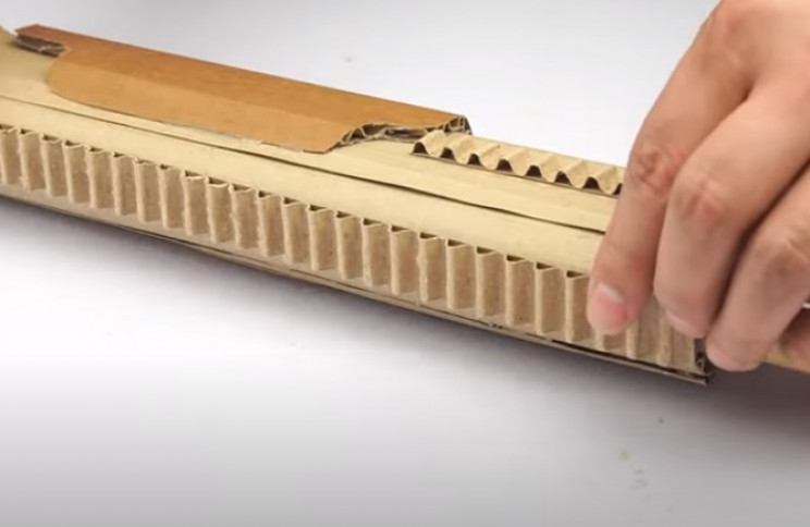diy cardboard gun rails