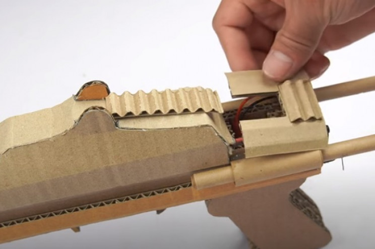 diy cardboard gun rear capping piece