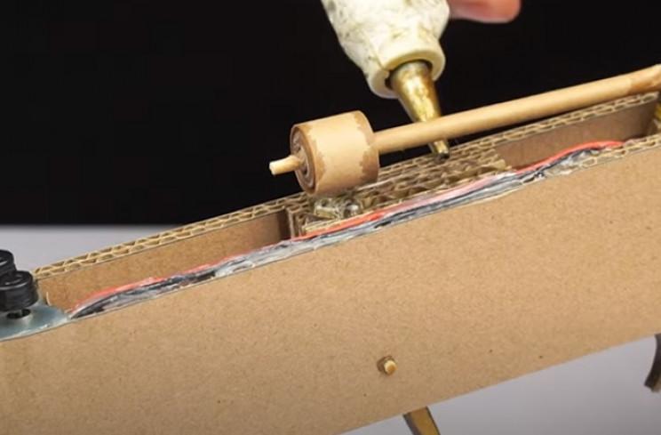 diy cardboard gun rod guide