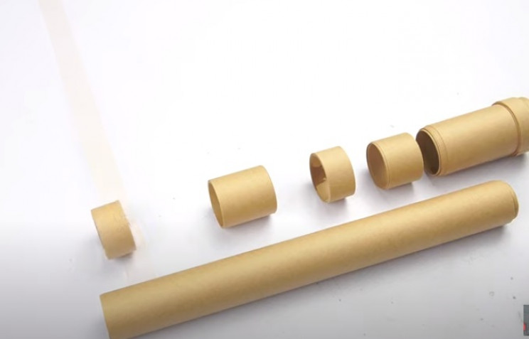 diy cardboard gun scope pieces