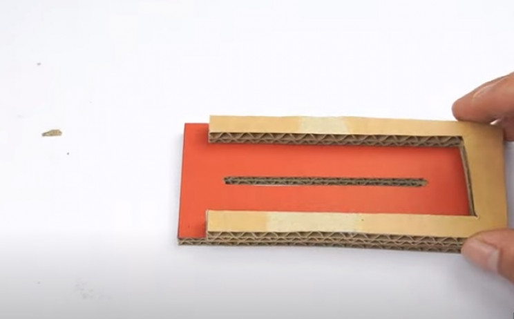 diy cardboard gun slitted piece